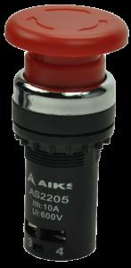 Кнопка безопасности грибовидная AS2205-11ZS/R красная, бистабильная