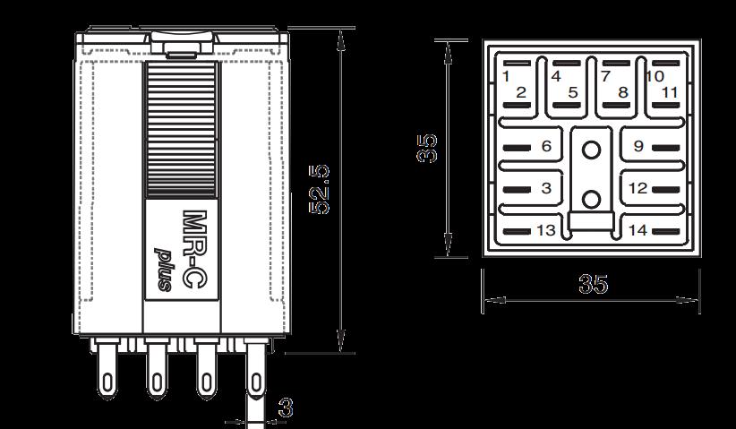Промышленное реле C4-A40 X/24VAC, с переключающими контактами