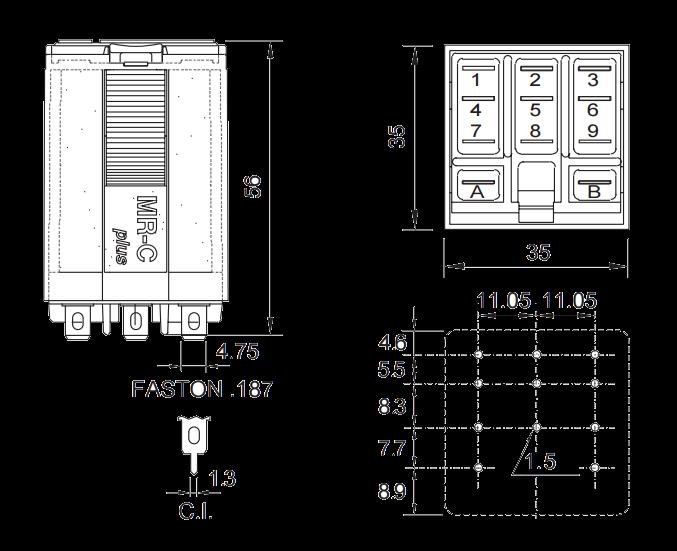 Мощное реле  C5-R20 /24VAC, поляризованные