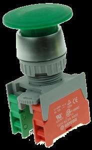 Кнопка безопасности грибовидная EB22-1-O/C-G зеленая, моностабильная