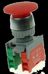 Кнопка безопасности грибовидная EB22-1-O/C-R красная, моностабильная