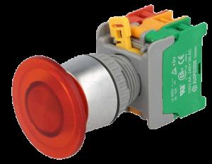 Кнопка безопасности грибовидная EBL22-1-O/C-R красная, моностабильная