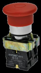 Кнопка безопасности грибовидная HBY5-11MT красная, бистабильная