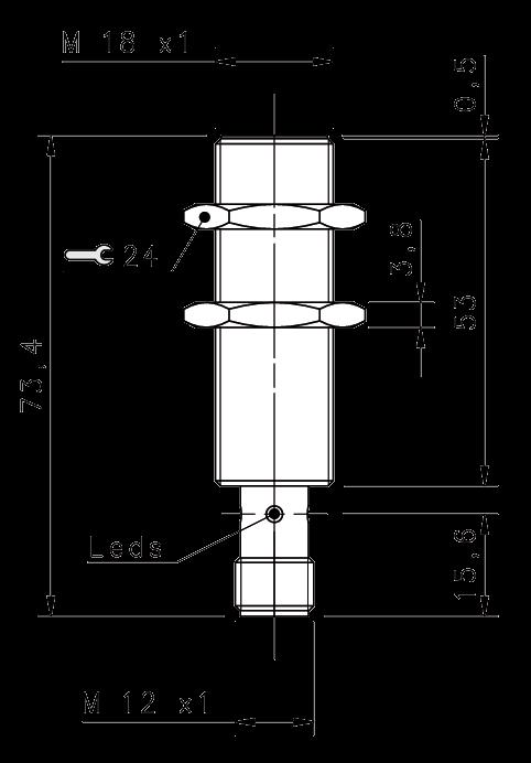 Индуктивный датчик IS-18-A3-S2