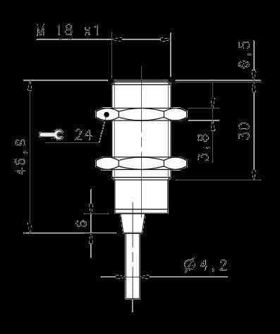 Индуктивный датчик IS-18-G5-03