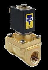 Електромагнітний клапан L145R2, двоходовий, непрямої дії.