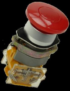 Кнопка безопасности грибовидная LAS0-A1Y-11M/R красная, моностабильная