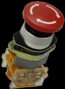 Кнопка безопасности грибовидная LAS0-A1Y-11TS/R красная, бистабильная