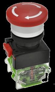 Кнопка безопасности грибовидная LAS0-A3Y-M02TS/R красная, бистабильная