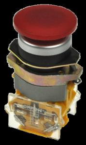 Кнопка безопасности грибовидная LAS0-B1Y-11M/R красная, моностабильная