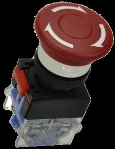Кнопка безопасности грибовидная LAS0-K-11TSA/R красная, моностабильная