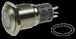 Кнопка управління LAS2GQF-11/S/FP хромована, моностабильная