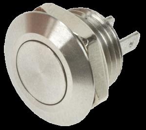 Кнопка антивандальная MSW-1201 хромированная, моностабильная
