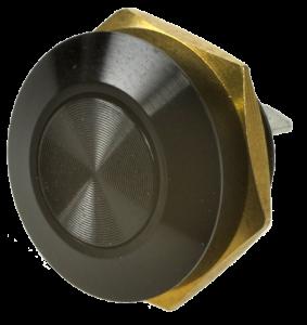 Кнопка антивандальная MSW-12A01 чёрная, моностабильная