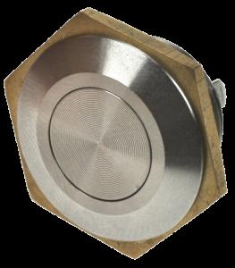 Кнопка антивандальная MSW-1601 хромированная, моностабильная