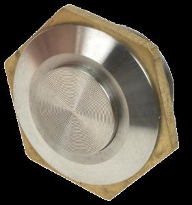 Кнопка антивандальная MSW-1602 хромированная, моностабильная