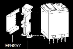 Монтажная клипса S4 R, для промышленных реле