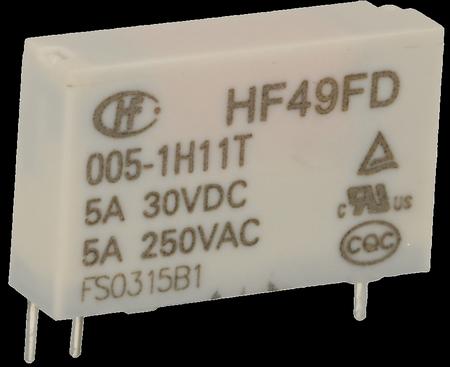 Реле електромагнітне HF49FD-005-1H11T, мініатюрне